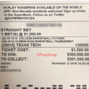 wager ticket
